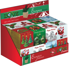 Love Green Holiday Cube